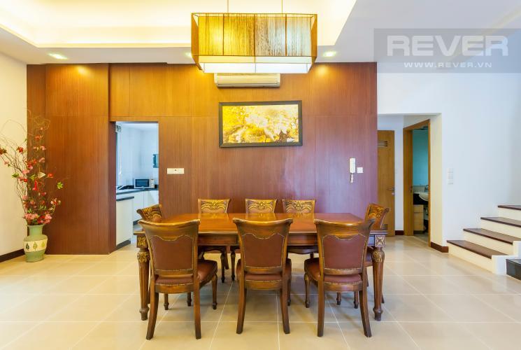 Bàn ăn Villa Compound Riviera Quận 2 thiết kế sang trọng, đầy đủ tiện nghi