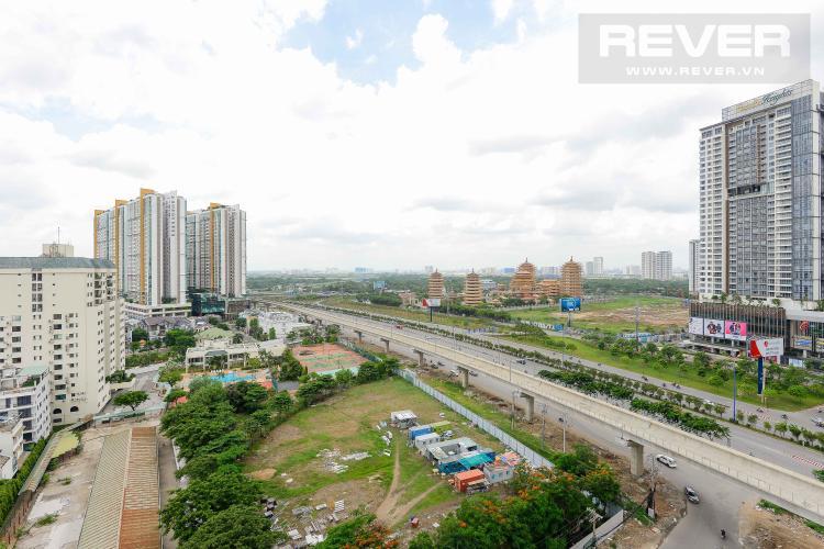 View Cho thuê căn hộ Masteri An Phú 2PN, tầng trung, tháp B, view Xa lộ Hà Nội
