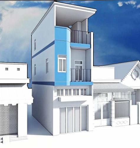 Ảnh 3D nhà phố Quận Phú Nhuận Nhà phố mặt tiền đường Cù Lao trung tâm Phú Nhuận diện tích 81m2