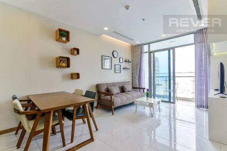 1 Bán căn hộ Vinhomes Central Park 1PN, tháp Park 7, đầy đủ nội thất, view hồ bơi và mé sông