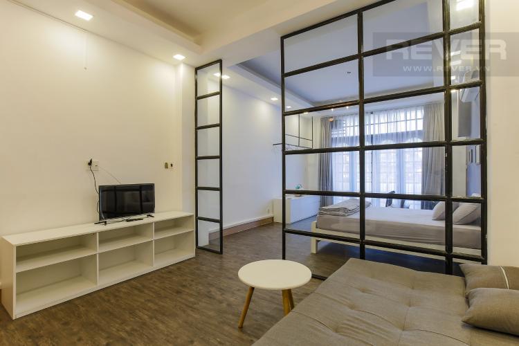 Phòng Khách Căn hộ dịch vụ Đường Mai Thị Lựu 1 phòng ngủ nội thất đầy đủ