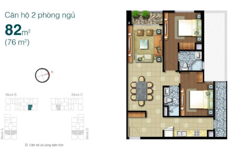 B_16.jpg Bán hoặc cho thuê căn hộ Lexington Residence, tầng cao, đầy đủ nội thất, ban công hướng Đông