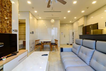 Cho thuê officetel Vinhomes Golden River 2PN, đầy đủ nội thất, view sông Sài Gòn và Landmark 81