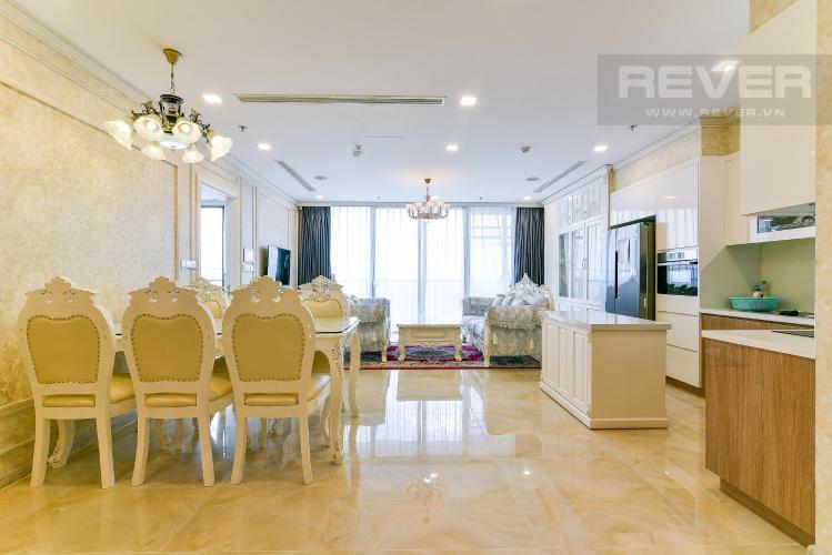 Phòng ăn và bếp căn hộ VINHOMES GOLDEN RIVER Bán hoặc cho thuê căn hộ Vinhomes Golden River 3PN, đầy đủ nội thất, view sông Sài Gòn và Bitexco