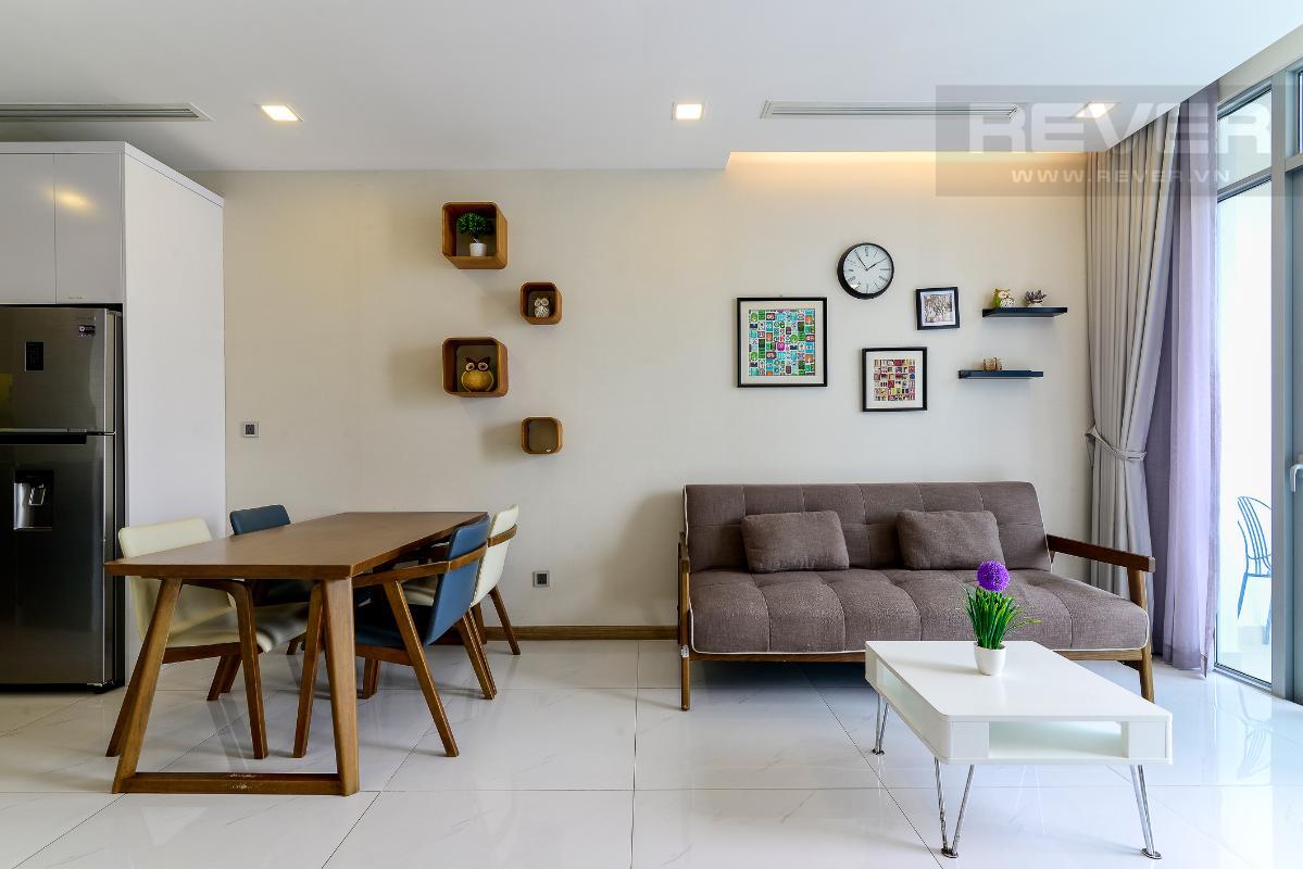 _DSC3954 Bán căn hộ Vinhomes Central Park 1PN, tháp Park 7, đầy đủ nội thất, view hồ bơi và mé sông