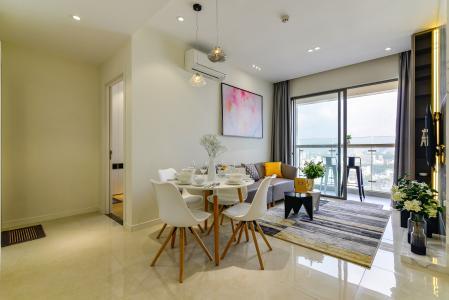 Cho thuê căn hộ Masteri Millennium 74m2 2PN 2WC, nội thất cao cấp, view sông và thành phố