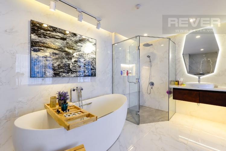 Phòng tắm 1 Căn hộ Vinhomes Central Park tầng thấp C1 thiết kế đẹp, đầy đủ tiện nghi