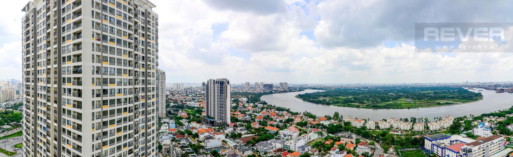 View Cho thuê căn hộ Masteri An Phú 2PN, tầng cao, đầy đủ nội thất, view sông thoáng đãng
