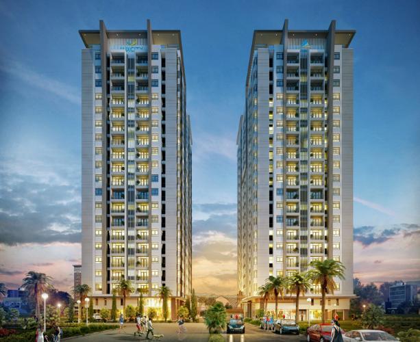 Luxcity Quận 7 Căn hộ Luxcity tầng thấp, nội thất cơ bản, 2 phòng ngủ.