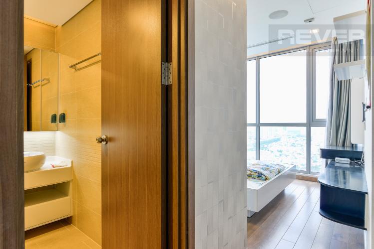 Phòng Ngủ 1 Bán căn hộ Vinhomes Central Park tầng cao, 2PN, đầy đủ nội thất, view sông