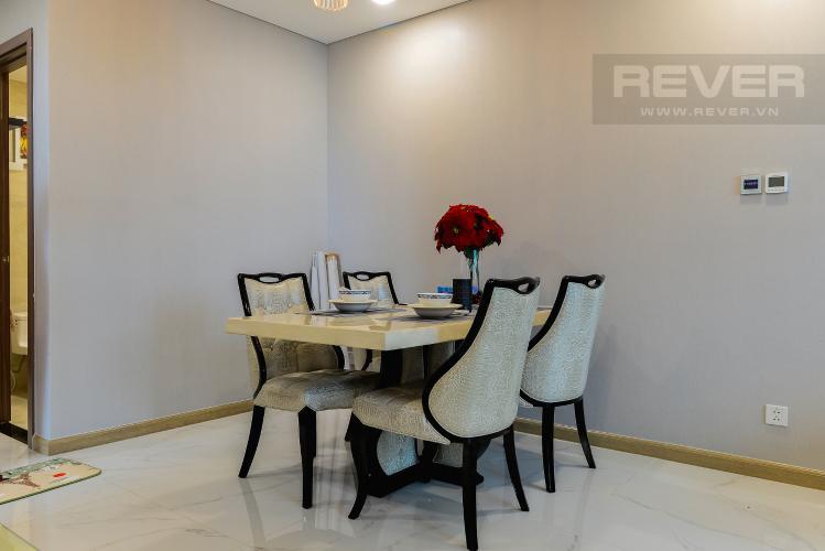 Phòng Ăn Cho thuê căn hộ Vinhomes Central Park tầng cao, 2PN đầy đủ nội thất tiện nghi, sang trọng