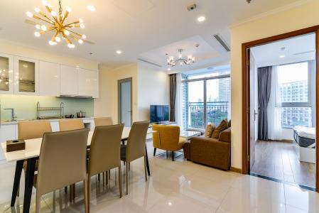 Bán căn hộ Vinhomes Central Park tầng cao, 2PN, đầy đủ nội thất