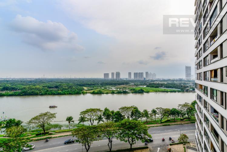 View Mặt Sau Căn hộ The Panorama 3 phòng ngủ tầng trung view sông