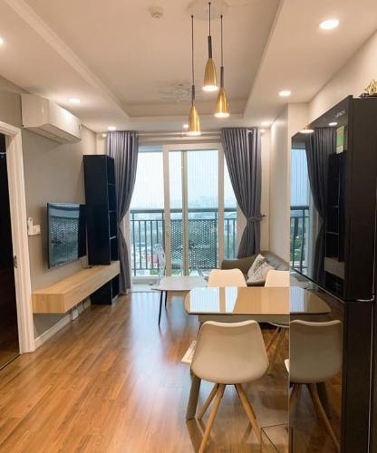Căn hộ Saigon Mia tầng 5 view thoáng mát , đầy đủ nội thất hiện đại.