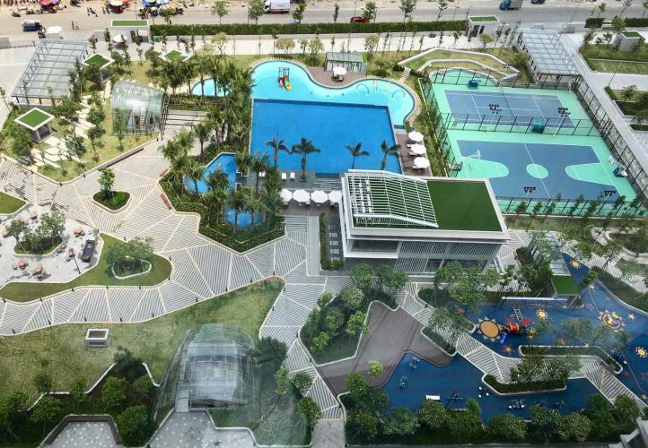 view căn hộ Saigon South Residence Bán căn hộ tầng cao Saigon South Residence,  view hồ bơi nội khu.