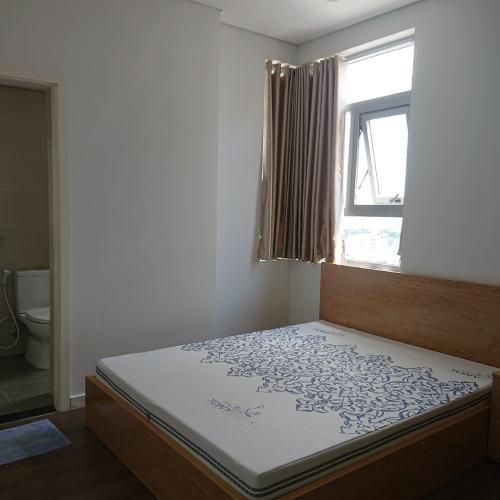 Phòng ngủ chính căn hộ Luxcity Căn hộ tầng cao Luxcity, ban công hướng Bắc nội thất đầy đủ
