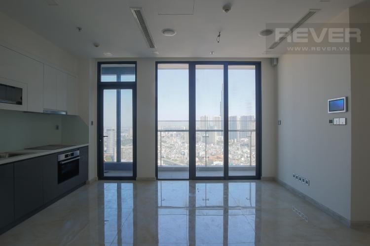 Phòng Khách Căn hộ Vinhomes Golden River tầng cao, 2PN, nội thất cơ bản