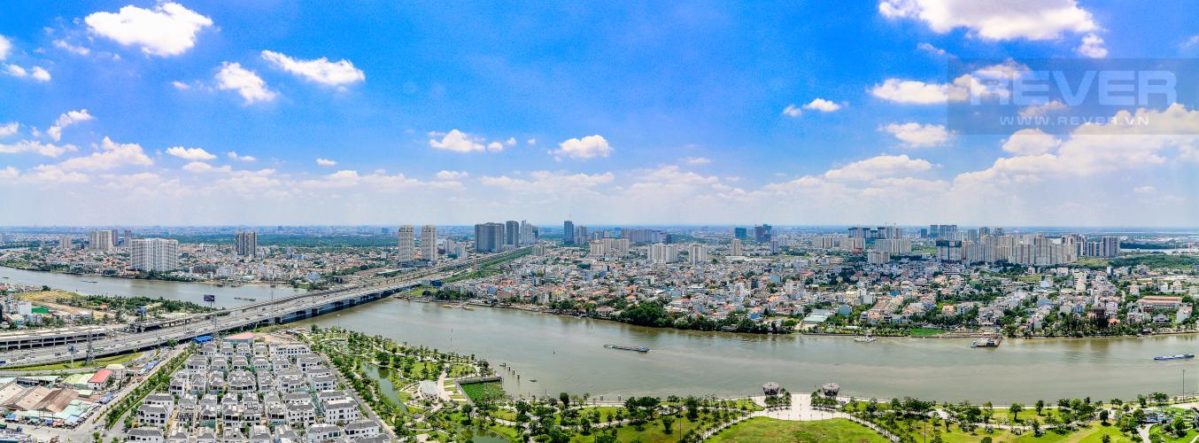 View Căn hộ Vinhomes Central Park 4 phòng ngủ tầng cao L1 view sông