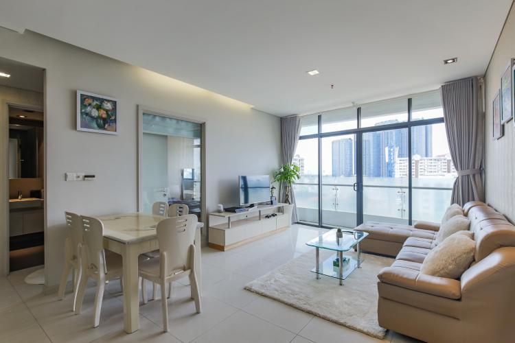 Cho thuê căn hộ City Garden tầng trung 1 phòng ngủ, đầy đủ nội thất, view hồ bơi mát mẻ