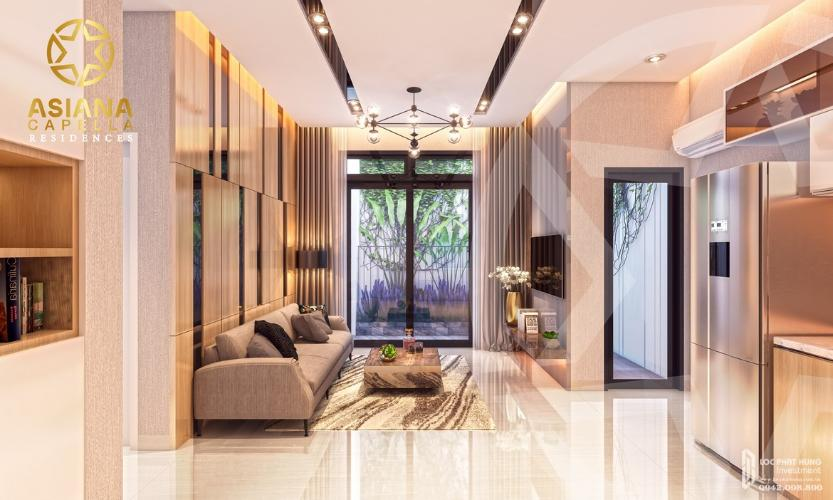 Phòng khách căn hộ Asiana Capella, Quận 6 Căn hộ Asiana Capella hướng cửa chính Tây Bắc, nội thất cơ bản.