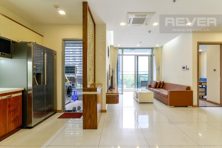 Phòng Khách Cho thuê căn hộ Vinhomes Central Park 3PN, tháp Park 7, đầy đủ nội thất, view hồ bơi