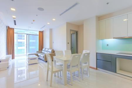 Căn hộ Vinhomes Central Park 2 phòng ngủ, tầng cao P6, đầy đủ nội thất