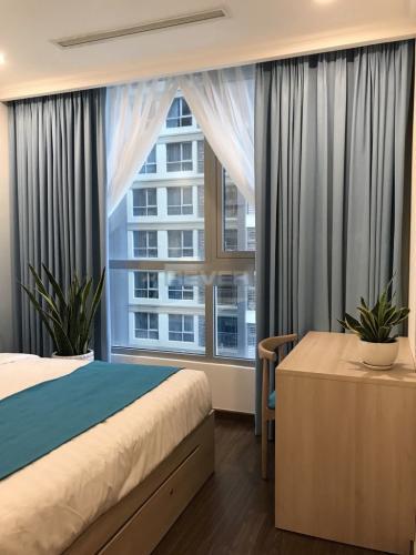 Căn hộ Vinhomes Central Park Căn hộ Vinhomes Central Park thiết kế gam màu xanh mát, 2 phòng ngủ.