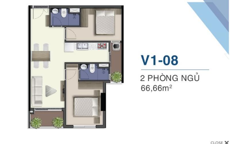 Mặt bằng căn hộ Q7 Saigon Riverside Bán căn hộ Q7 Saigon Riverside tầng cao, nội thất cơ bản.