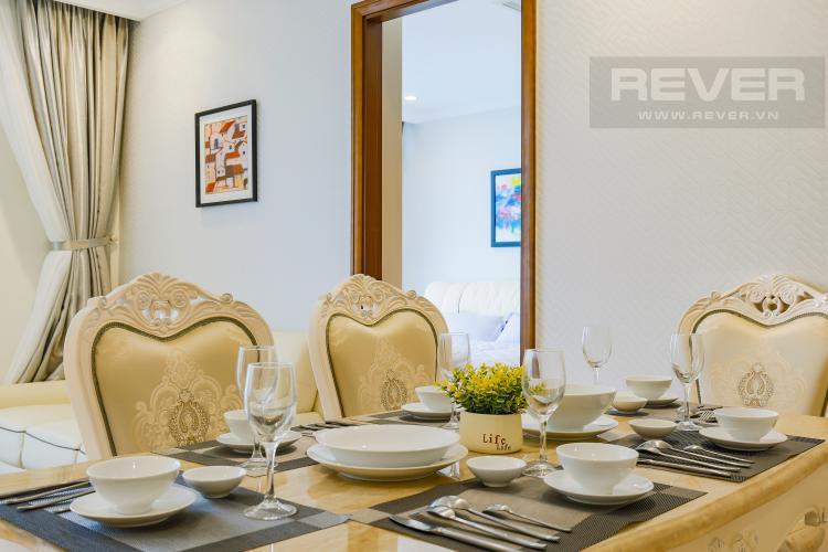 Bàn Ăn Căn hộ Vinhomes Central Park tầng cao L2 nội thất đẹp, tiện nghi