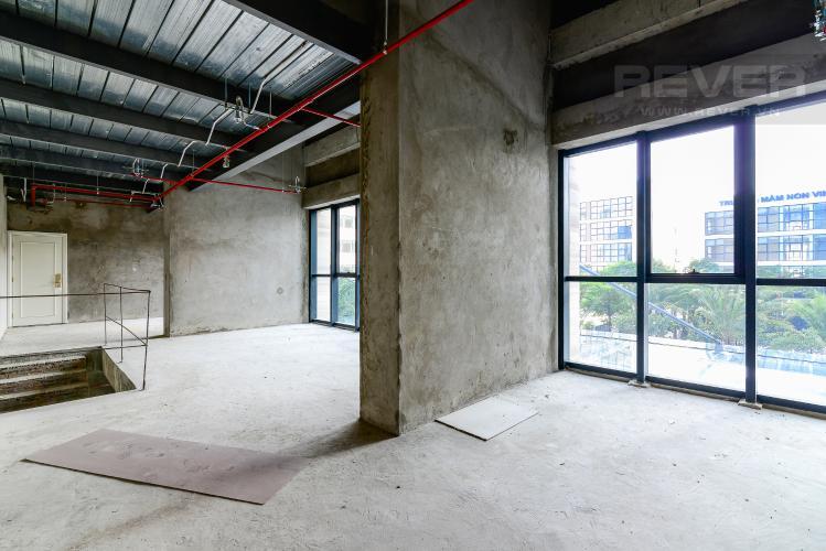 Mặt Bằng Tầng 1 Bán căn shophouse Vinhomes Golden River 139.5m2 hướng Tây Nam, view nội khu