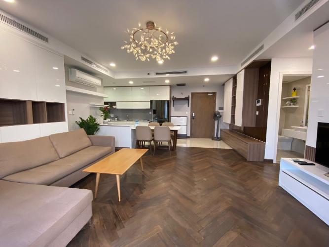 phòng khách căn hộ Masteri Millennium Căn hộ Masteri Millennium nội thất cao cấp, sang trọng, view Bitexco.