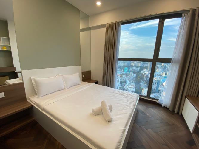 phòng ngủ căn hộ Masteri Millennium Căn hộ Masteri Millennium nội thất cao cấp, sang trọng, view Bitexco.