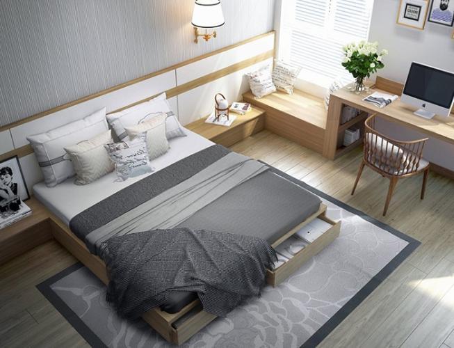Phòng ngủ căn hộ City Gate 3 Căn hộ City Gate 3 nội thất cơ bản 1 phòng ngủ view thành phố  .