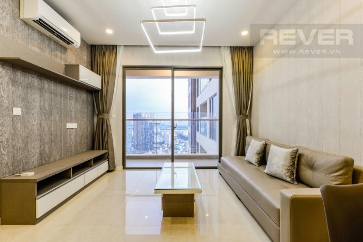 Phòng khách Cho thuê căn hộ Masteri Millennium tầng cao 2PN view sông