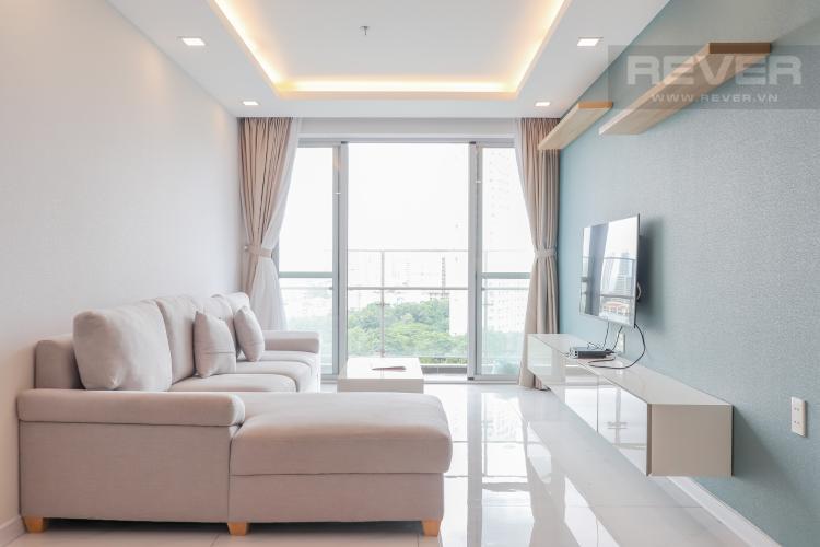 Phòng Khách Cho thuê căn hộ Scenic Valley 3PN, tầng thấp, block C, đầy đủ nội thất, view sông thoáng đãng