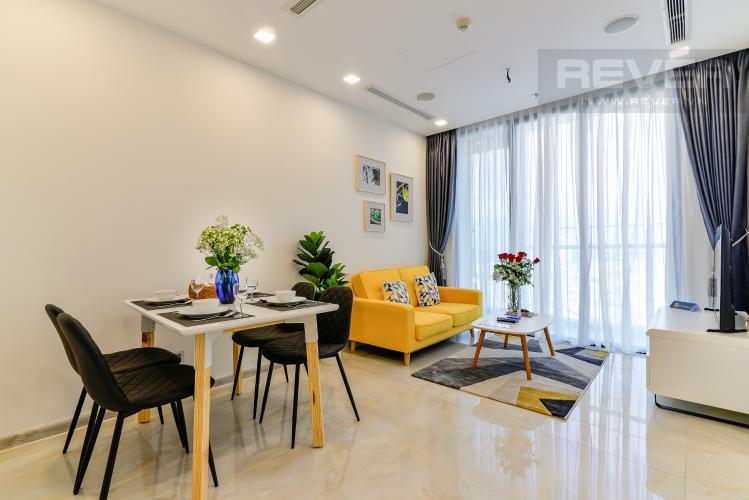 Phòng Khách Căn hộ Vinhomes Golden River 2PN đầy đủ nội thất view đẹp