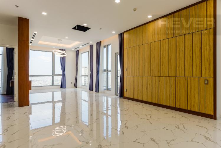 Phòng khách Penthouse Vinhomes Central Park 2 phòng ngủ tháp C2