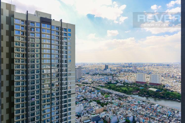 View Cho thuê căn hộ Vinhomes Central Park 2PN 2WC, nội thất cơ bản, view sông