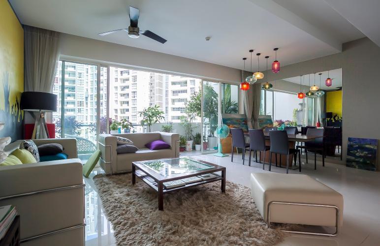 Căn hộ Estella Residence 3 phòng ngủ tầng thấp view hồ bơi