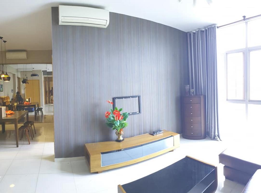 Living room Bán hoặc cho thuê căn hộ The Vista An Phú 2PN, tầng thấp, đầy đủ nội thất, view sông thoáng mát
