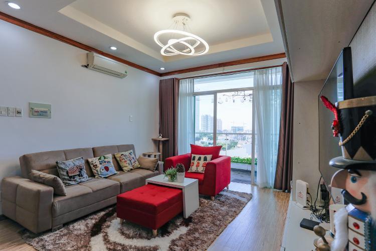 Căn hộ New Sài Gòn, tầng trung, tòa C, 2 phòng ngủ, full nội thất.