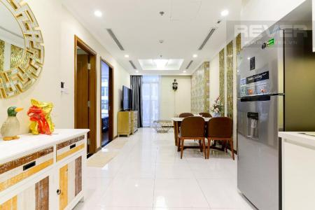Cho thuê căn hộ Vinhomes Central Park 1PN, tháp Landmark 5, đầy đủ nội thất, view Pearl Plaza