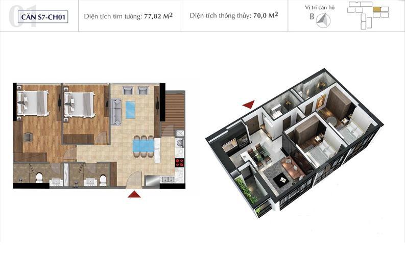 Bán căn hộ Office-tel Sunshine City Saigon diện tích 78m2