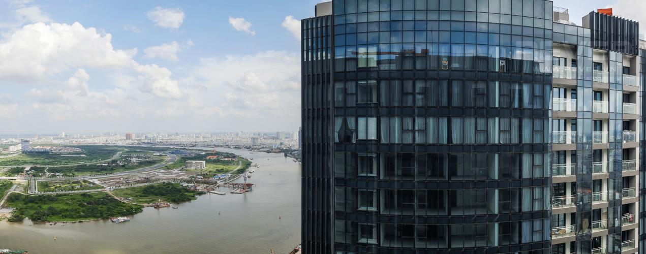 View Cho thuê căn hộ Vinhomes Golden River 2PN, tầng cao, đầy đủ nội thất, view sông Sài Gòn