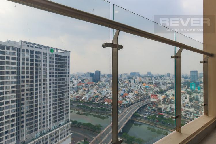 Balcony Cho thuê căn hộ Masteri Millennium 1PN 1WC, đầy đủ nội thất, view sông