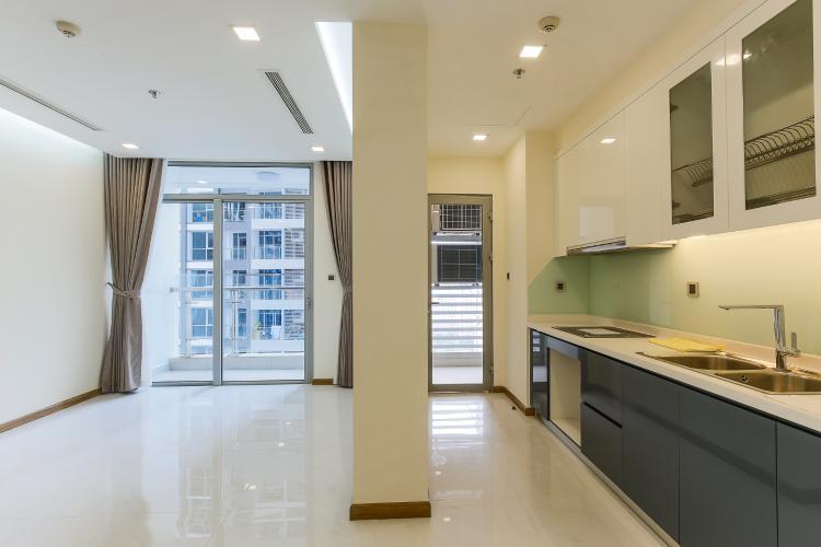 Phòng Bếp Căn hộ Vinhomes Central Park 2 phòng ngủ tầng trung P3 view hồ bơi