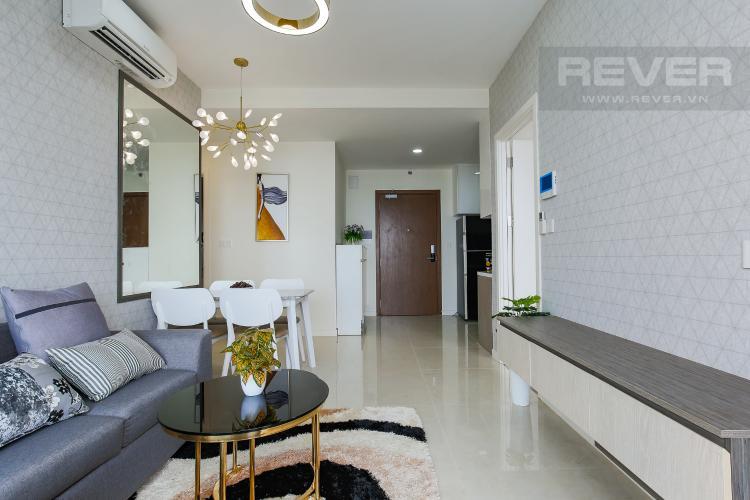 Phòng Khách Cho thuê căn hộ Masteri Millennium tầng cao, 2PN, đầy đủ nội thất