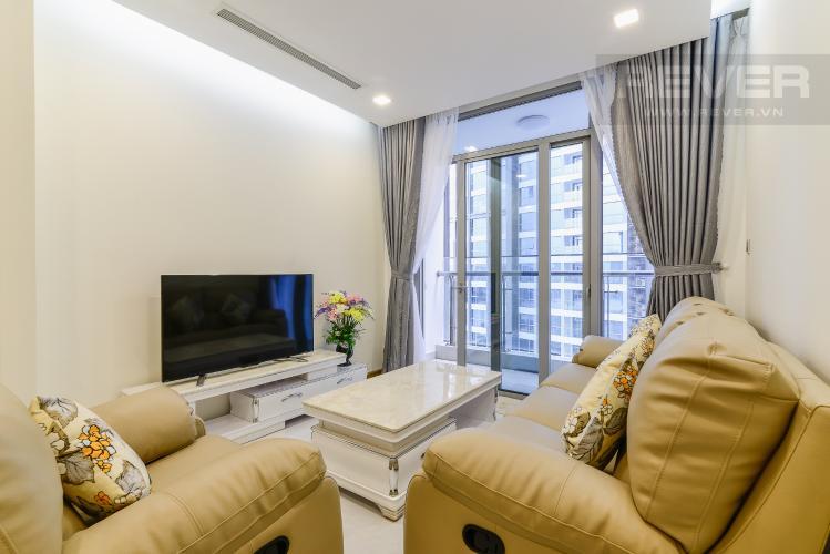Phòng khách Căn hộ Vinhomes Central Park 2 phòng ngủ, tầng trung P2, nội thất đầy đủ