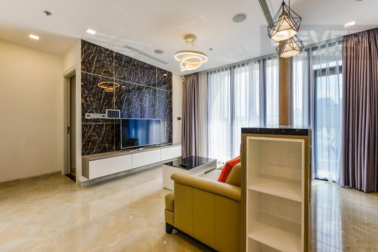Phòng khách Căn hộ Vinhomes Golden River tầng thấp A3 view sông 2 phòng ngủ