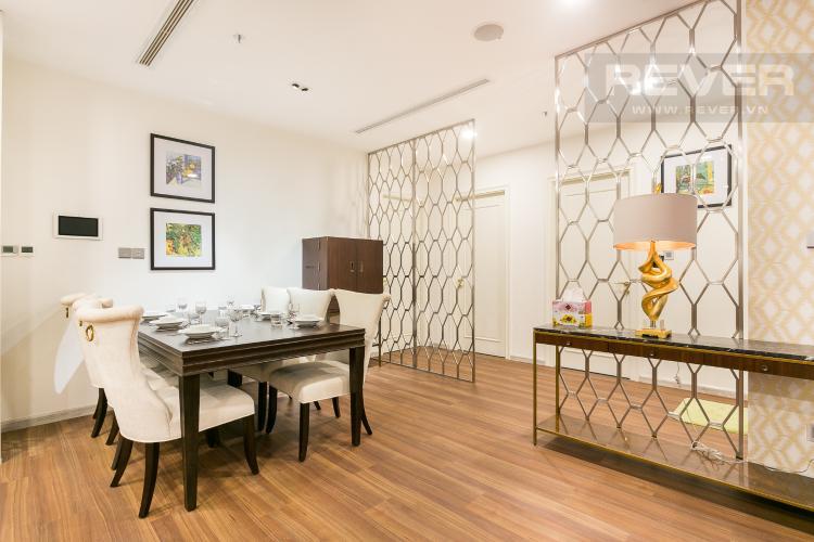 Phòng Ăn Bán hoặc cho thuê căn hộ Vinhomes Golden River 3PN, tầng cao, đầy đủ nội thất, view sông Sài Gòn và Thủ Thiêm